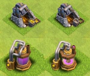 Rappel: Pour savoir si les mines des villages sont pleines, il faut regarder si le petit bac devant contient de l'or ou non.